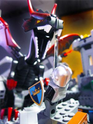 Knight and Lego Dragon
