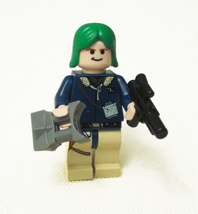 Lego Han Solo with Green Hair
