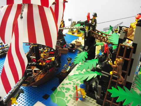 Lego Pirate Ship At Island