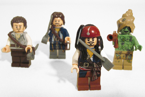 Lego 4183 The Mill Minifigures- Lego Jack Sparrow & Will Turner