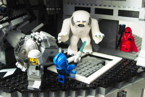 Deadly Wampa on the Lego Death Star
