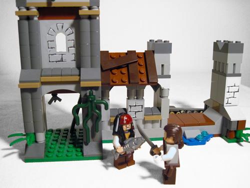 Lego Jack Sparrow fishfighting