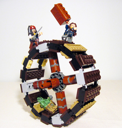 Lego 4183 The Mill swordfight on Wheel